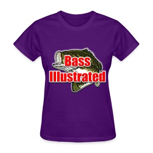 Women's T-shirt in Purple - Bass Illustrated Large Logo - Women's T-Shirt