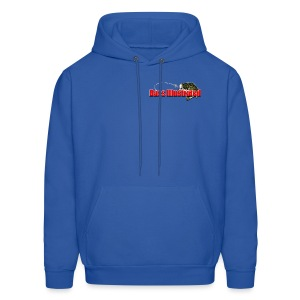 Men's Hoodie in Royal Blue - Bass Illustrated Front & Back Graphic - Men's Hoodie