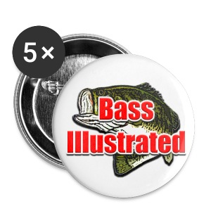 Bass Illustrated's Button Pack of 5 - Small Buttons