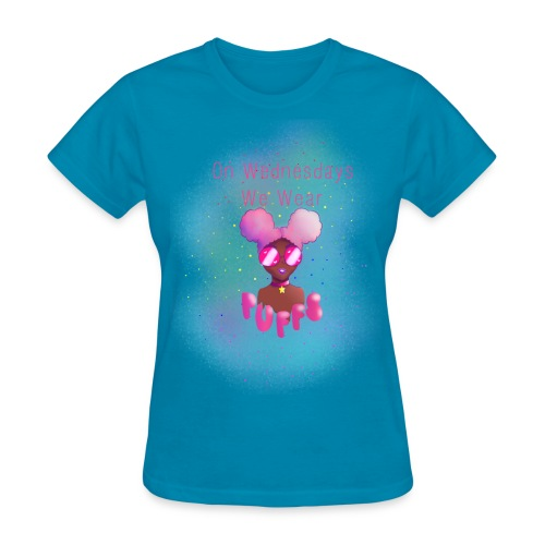On Wednesdays We Wear Puffs - Women's T-Shirt
