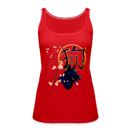 Tanks ~ Women's Premium Tank Top ~ The Year Of The Dog--black dog