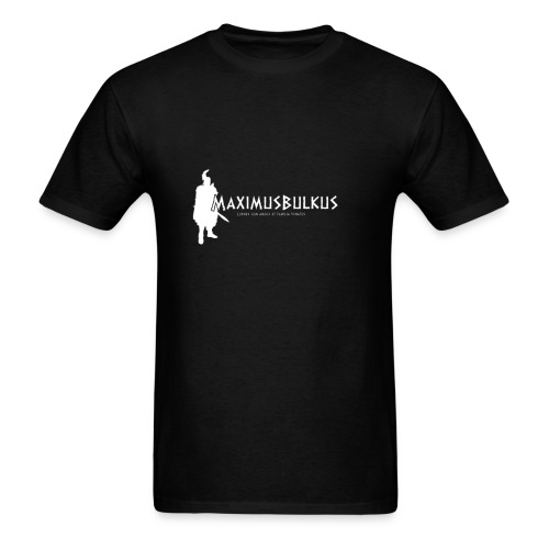 MaximusBulkus Gladiator Men's T-shirt (White Logo) - Men's T-Shirt