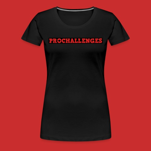 Women's Prochallenges Original T-Shirt (Black) - Women's Premium T-Shirt