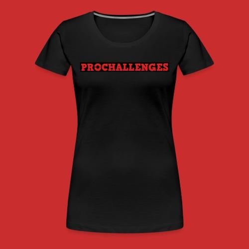 Women's Prochallenges Original T-Shirt (Black) - Women's Premium T-Shirt