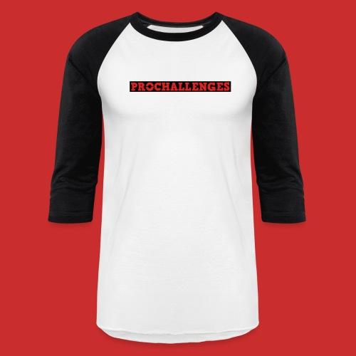 Men's Prochallenges Baseball T-Shirt (Black & White) - Baseball T-Shirt