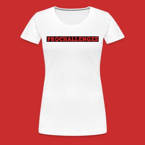 Women's Prochallenges Original T-Shirt (White) - Women's Premium T-Shirt