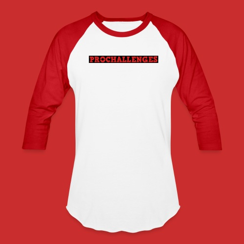 Men's Prochallenges Baseball T-Shirt (Red & White) - Baseball T-Shirt
