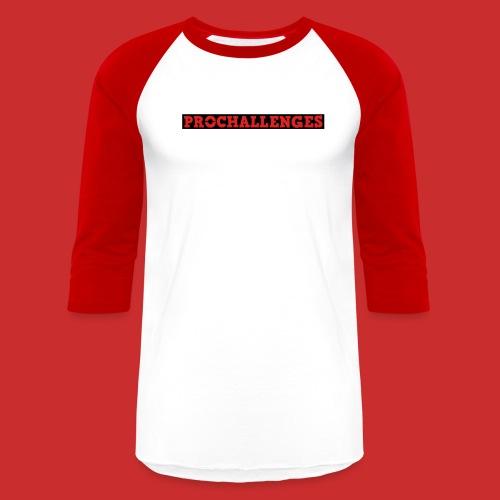 Men's Prochallenges Baseball T-Shirt (Red & White) - Baseball T-Shirt