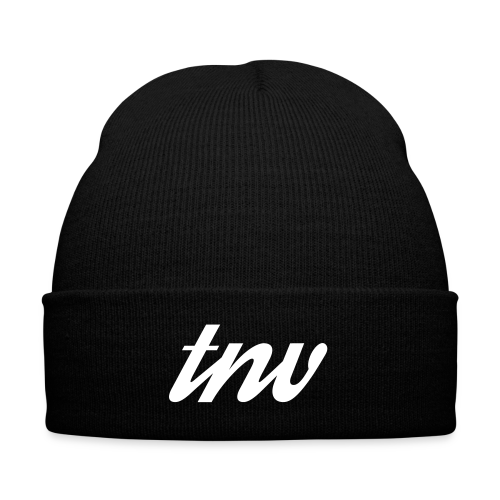 TNV BEANIE - Knit Cap with Cuff Print