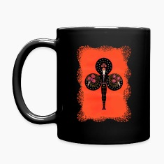 Ace of Clubs in Art Deco Coffee Mug