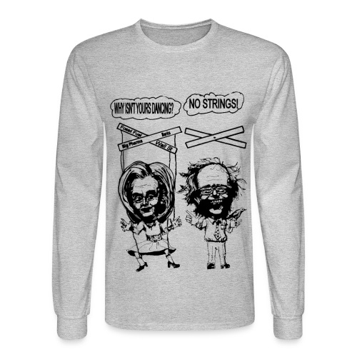 Long Sleeve Sanders vs Clinton Satire - Men's Long Sleeve T-Shirt