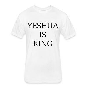 Men's Yeshua Is King T-Shirt - Fitted Cotton/Poly T-Shirt by Next Level