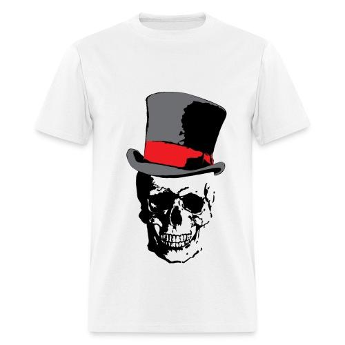 Skull and Top Hat - Men's T-Shirt