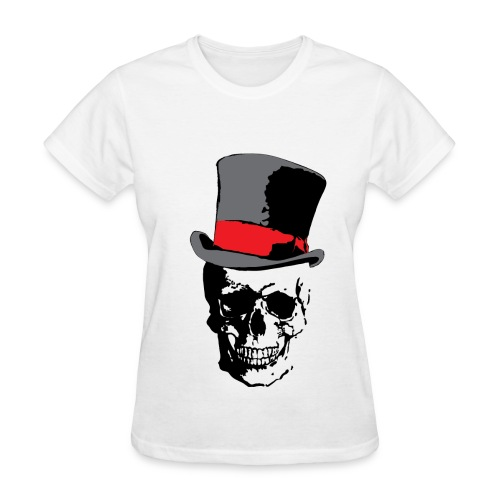 Skull and Top Hat - Women's T-Shirt
