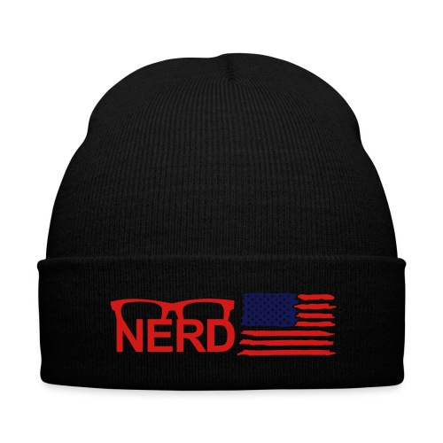NERD SKULLY HAT - Knit Cap with Cuff Print
