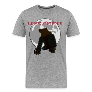 Men's Howling Lupus Shirt - Grey - Men's Premium T-Shirt