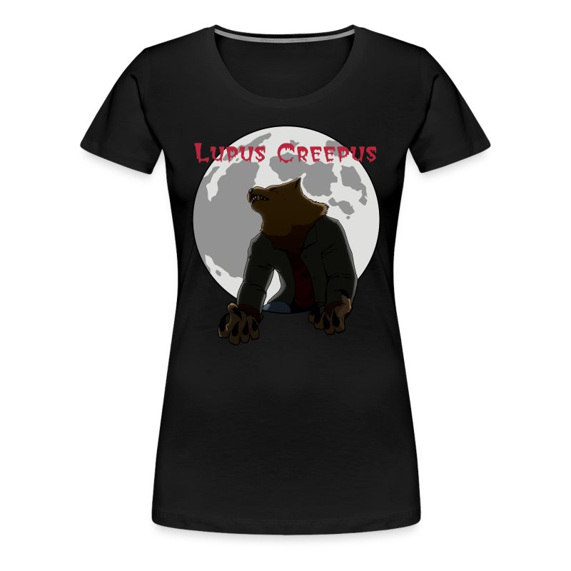 Women's Howling Lupus Shirt - Black - Women's Premium T-Shirt