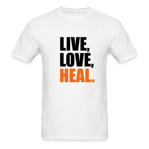 Male - Live, Love, Heal - Men's T-Shirt