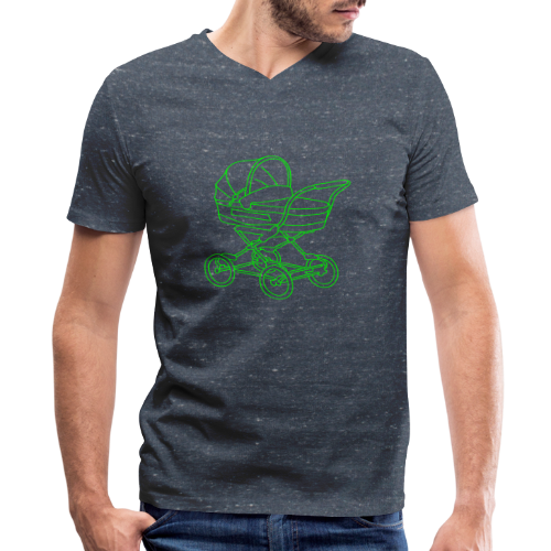 Baby stroller - Men's V-Neck T-Shirt by Canvas
