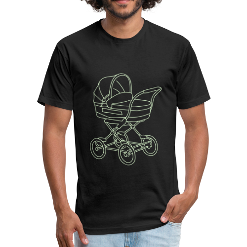 Baby stroller - Fitted Cotton/Poly T-Shirt by Next Level