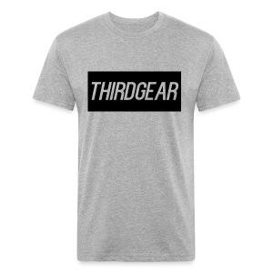 ThirdGear Logo Men's Cotton T-Shirt - Fitted Cotton/Poly T-Shirt by Next Level