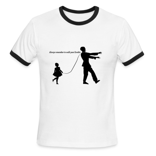 Always Remember To Walk Your Zombie ( Mens ) - Men's Ringer T-Shirt