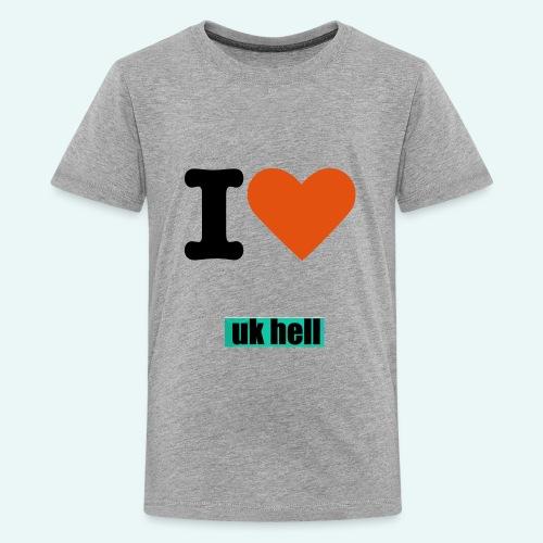Official I love uk hell t-shirt - Kids' Premium T-Shirt