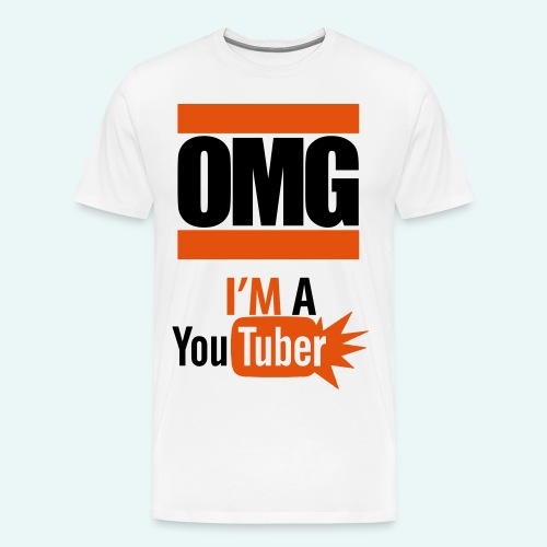 Official OMG im a youtuber t-shirt - Men's Premium T-Shirt