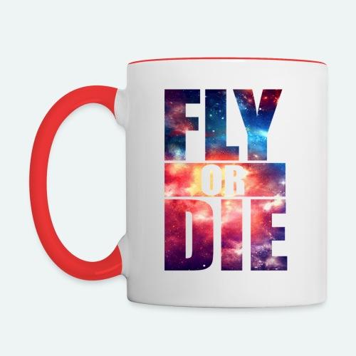 fly or die - Contrast Coffee Mug