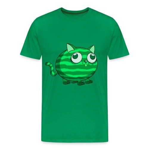 Watermelon Cat (Mens) - Men's Premium T-Shirt
