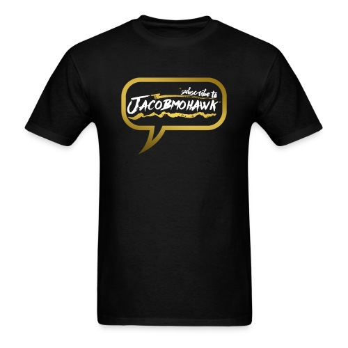 LIMITED EDITION Men's Gold Subscribe to Jacobmohawk Shirt - Men's T-Shirt
