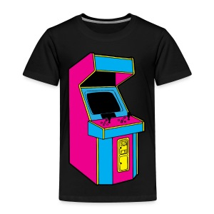 Stand Up, Old School Arcade Game (CMYK) - Toddler Premium T-Shirt
