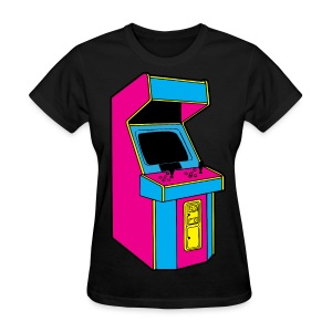 Stand Up, Old School Arcade Game (CMYK) - Women's T-Shirt
