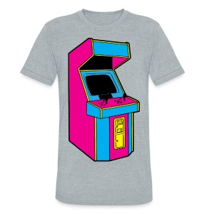 Stand Up, Old School Arcade Game (CMYK) - Unisex Tri-Blend T-Shirt