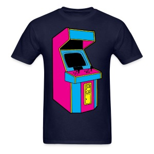Stand Up, Old School Arcade Game (CMYK) - Men's T-Shirt