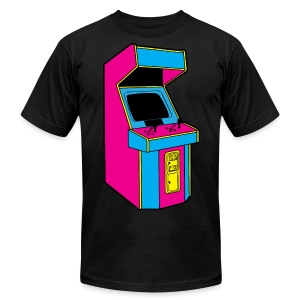 Stand Up, Old School Arcade Game (CMYK) - Men's Fine Jersey T-Shirt
