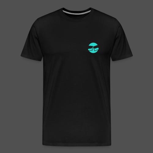 Black Glasses LOOP  - Men's Premium T-Shirt