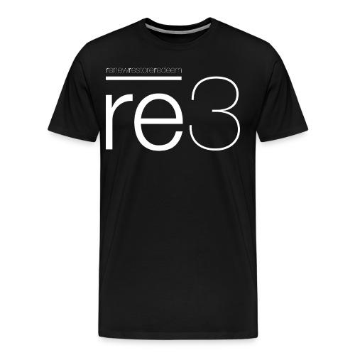 Men's Black re3 Logo Shirt - Men's Premium T-Shirt