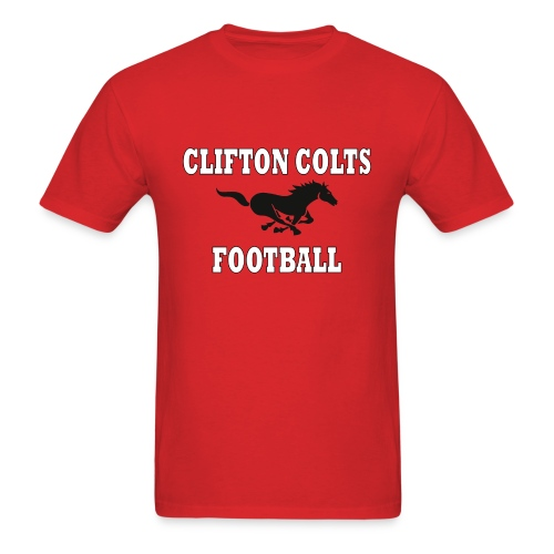 Men's Clifton Colts Football Red T-Shirt - Men's T-Shirt