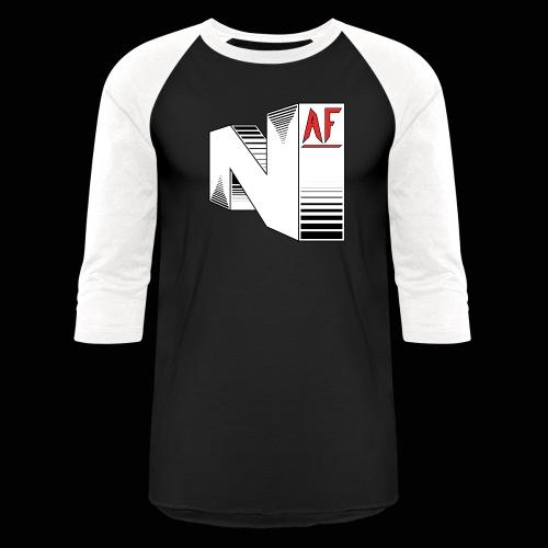 Nerdy AF Logo Baseball - Baseball T-Shirt