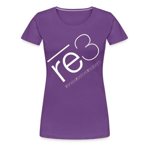 Women's Purple re3 Logo Shirt - Women's Premium T-Shirt