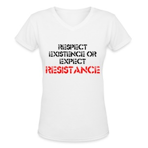 RESPECT EXISTENCE V NECK T-SHIRT - women - Women's V-Neck T-Shirt