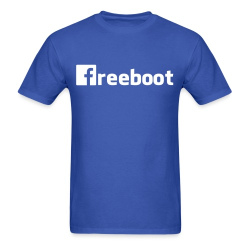 Facebook: freeboot (Men's Shirt) - Men's T-Shirt