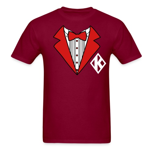 MAROON KAPPA BOWTIE TEE - Men's T-Shirt