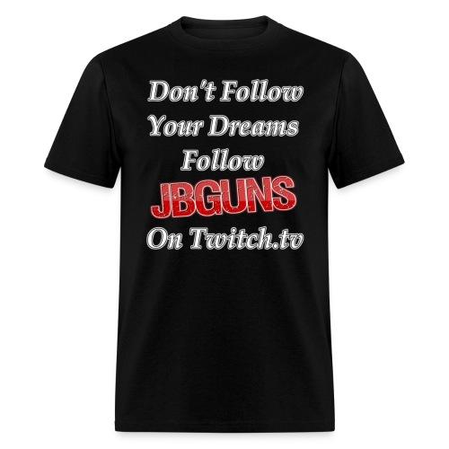 Follow jBGuns - Men's T-Shirt