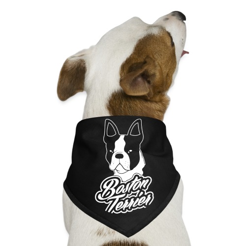 Red Boston Terrier Dog Bandana - Dog Bandana