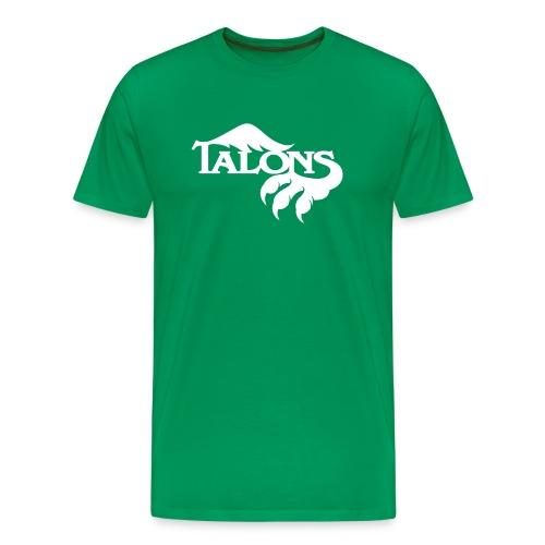 White on Green - Men's Premium T-Shirt