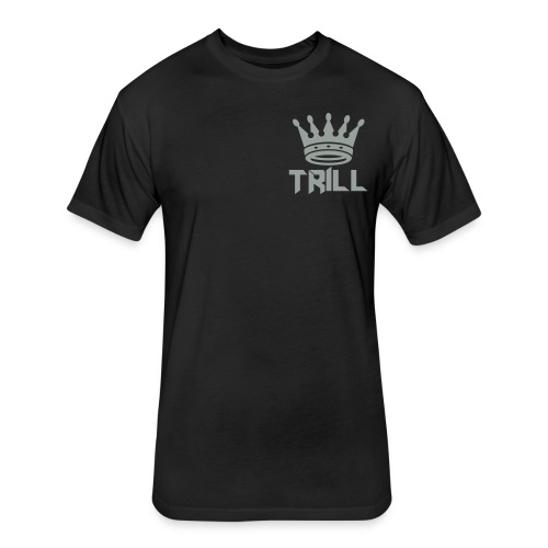 trill_crown - Fitted Cotton/Poly T-Shirt by Next Level