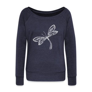 BB Monde Tribal Dragonfly from South Seas - Women's Wideneck Sweatshirt