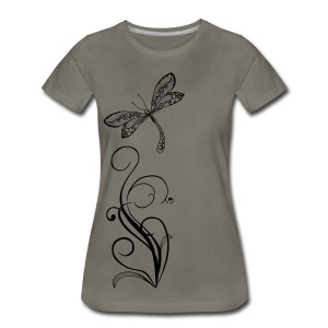 BB Monde Tribal Dragonfly from South Seas - Women's Premium T-Shirt
